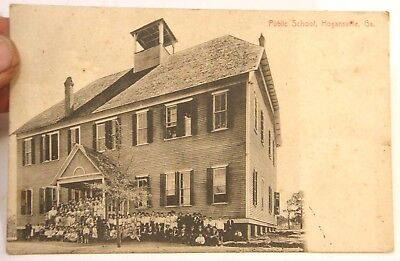 Antique Vintage 1911 Postcard Public School Hogansville Georgia Troup County