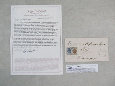 Nystamps Russia stamp # 35 Wenden # L11 on cover paid $300 in 2007 Certificate