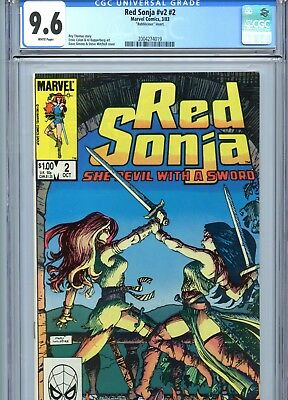 Red Sonja v2 #2 CGC 9.6 White Pages Marvel Comics 1983