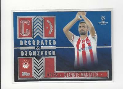 2015-16 Topps UEFA Champions Decorated and Dignified Red Giannis Maniatis /25