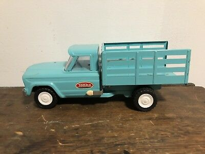 Vintage 1960's Tonka Mini Stake Truck with Original Box Old Toy