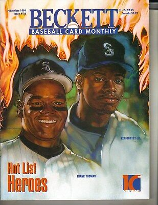 Ken Griffey Jr Seattle Marinos Frank Thomas Beckett Mensual Revista 11/94 Hero