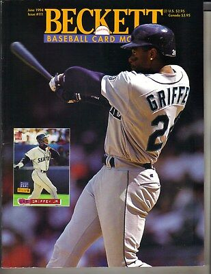 Ken Griffey Jr Seattle Mariners Beckett Baseball Cartoline Mensile 6/94