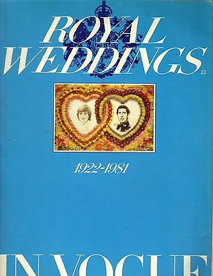 PRINCESS DIANA PRINCE CHARLES UK Vogue Magazine 1922- 1981 ROYAL WEDDINGS