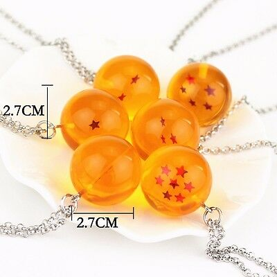 Dragon Ball Z Cosplay DBZ Crystal Ball Stars Necklace Anime Chain 1pc