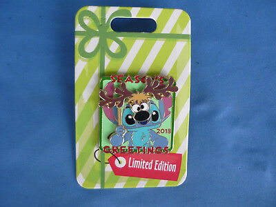 STITCH  Disney Pin SEASONS  GREETINGS  2018 Limited Edition  moves New