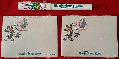 Walt Disney World 20th Anniversary 1991 Pen & Two Sealed Note Pads Never Opened