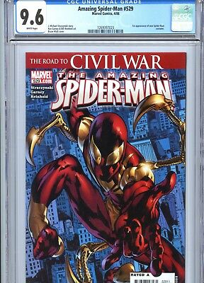Amazing Spider-Man #529 CGC 9.6 White Pages New Costume Marvel Comics 2006
