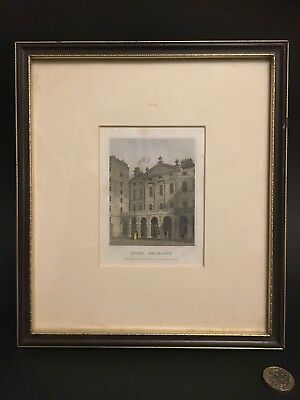 SALE - 19th Century Coloured ETCHING - Royal Exchange Edinburgh by H. S. Storer