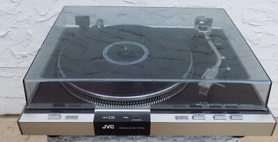 Vintage 1977 JVC JL-F50  Direct Drive Auto Turntable Record Player Works