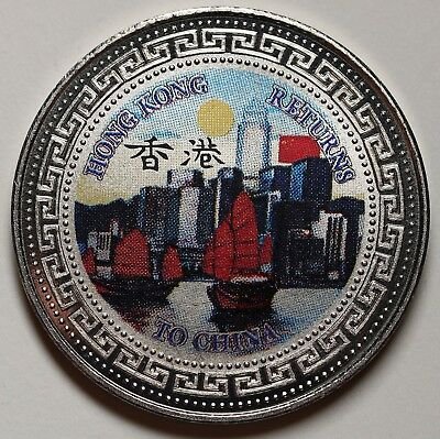 1997 Hong Kong HK Trade Dollar Return To China  Proof Coin By The Royal Mint