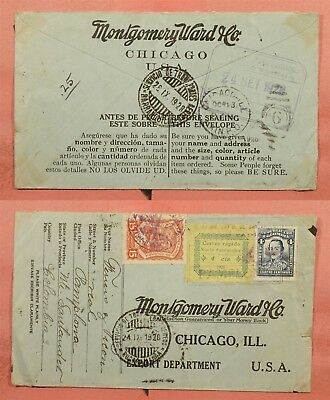 1928 Colombia Scadta Airmail + Santander Rapido Stamp To Montgomery Ward Usa