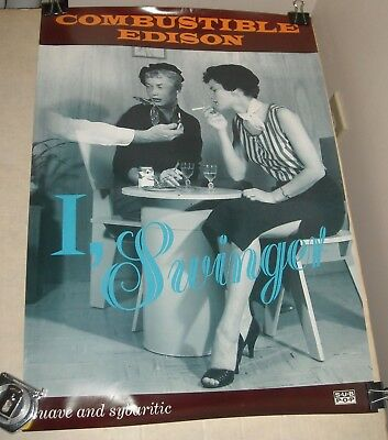 ROLLED Sub Pop COMBUSTIBLE EDISON BAND ADVERTISING PROMO 17 x 23 POSTER BIZARRE