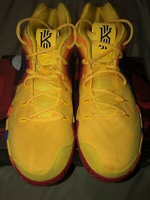 611d3d5ff07 Nike Kyrie 4 70s Uncle Drew Decades Pack Yellow Basketball Shoes 943806-700