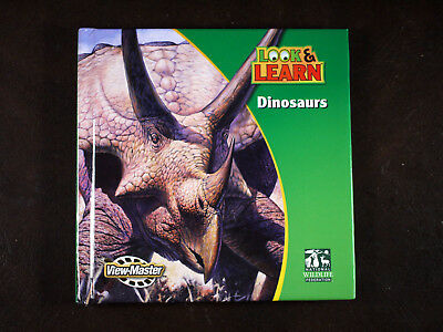 View-Master DINOSAURS 3 reels & booklet Look & Learn - rr