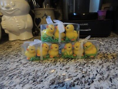 Ceramic Easter-Themed Yellow Chicks 3 Sets  of Three (3)