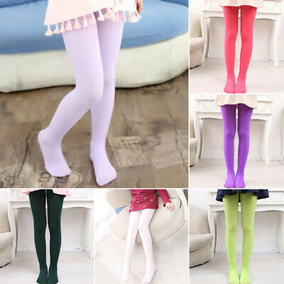 Child Kids Girls Ballet Dance Opaque Tights Pantyhose Hosiery Stockings Colors