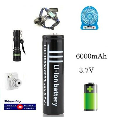 1 x 18650 3.7V 6000mAh UltraFire Rechargeable Li-ion Battery