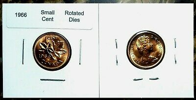 Canada 1966 Small Cent  *Rotated Dies* Gem BU UNC Penny!!