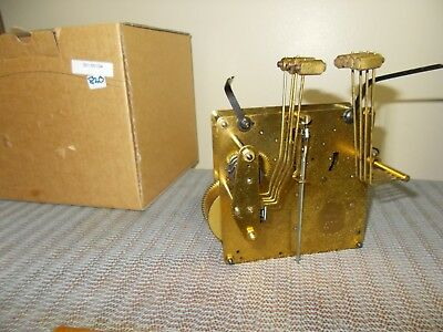 '69 HERMLE 351-054/34cm WESTMINSTER CHIME 8 DAY MOVEMENT + FACTORY BOX