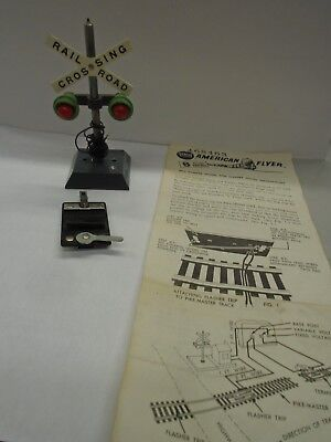 Original American Flyer #760 Highway Flasher With Instructions And Track Trips
