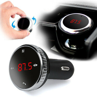Wireless In-Car Bluetooth FM Transmitter MP3/WMA Radio Adapter Car Kit 12-24V