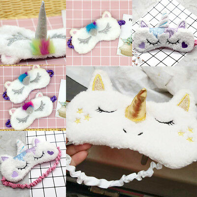 Unicorn Sleep Blinder Patch Goggle Eye Barrier Cartoon Cute Plush Doll Fashion