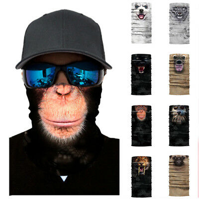 Motorcycle Ski 3D Print Animal Bandana Face Mask Balaclava Neck Snood Tube Scarf