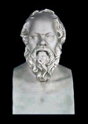 "Greek Philosopher Socrates bust 21"" Museum Sculpture Replica Reproduction"