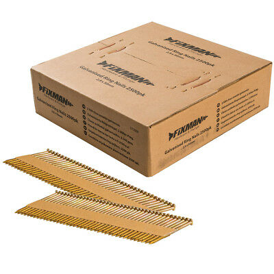 Fixman Collated Galvanised Ring Shank Framing Nails 34° 2.9mm x 50mm 2500 Pack