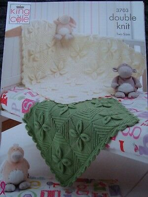 King Cole Home Picture Blanket /& Cushion Comfort Knitting Pattern 3982 D...