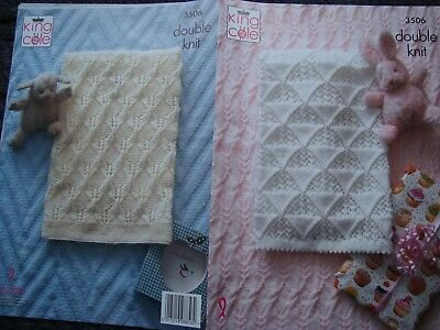 King Cole 3506 Baby's Blankets DK Knitting Pattern