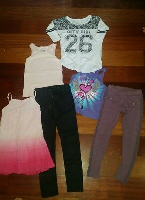 Bulk Mixed Lot Size 8 Girls Clothes Clothing -  Jeans Leggings Tops