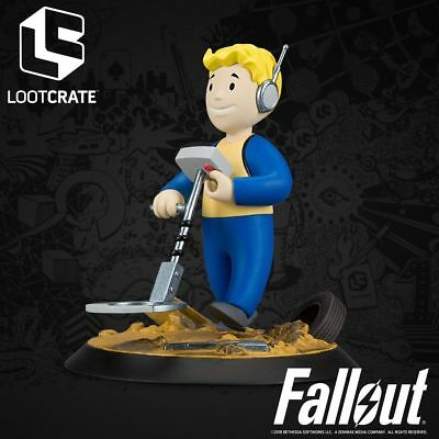 Fallout Fortune Finder Perk Figure Loot Crate SCAVENGE BETHESDA Exclusive SEALED