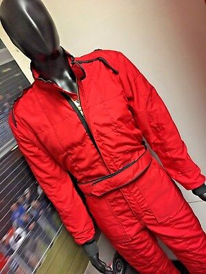 Nomex Race Suit Fia Red/black Med/large Made In Gb New