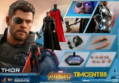 Ready! Hot Toys MMS474 Avengers: Infinity War 1/6 Thor Chris Hemsworth Figure