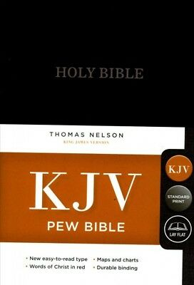 Holy Bible : King James Version, Black, Red Letter Edition, Pew Bible, Hardco...