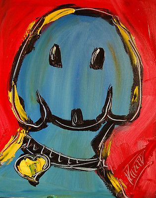 DOG Stylish Animal Figure Abstract Wall Art Oil Painting Canvas Painted New  R31
