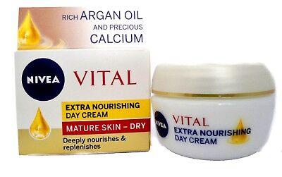 Nivea VITAL Extra Nourishing DAY CREAM -for MATURE SKIN or DRY SKIN 50ml