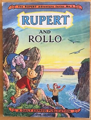 RUPERT Adventure Series NUMBER 3 Rupert & ROLLO SEPT 1949 FINE SUPERB EXAMPLE