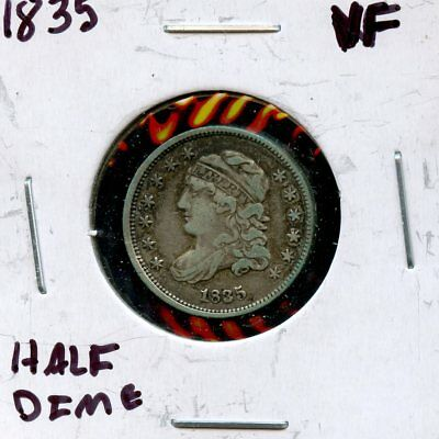 1835 5c United States Silver Capped Bust Half Dime 5c Coin UL639