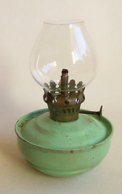 A Vintage 'kelly' Oil Lamp Including Glass Chimney.