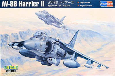 McDonnell AV-8B Harrier II Aircraft Flugzeug 1:18 Model Kit Hobby Boss 81804