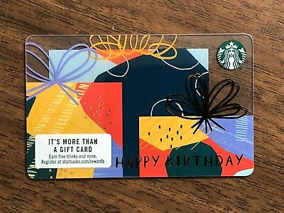 Starbucks Gift Card 2018 Happy Birthday Present Celebration Holiday No Value