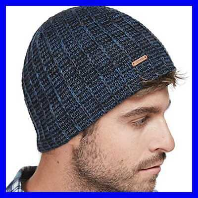 LETHMIK Knit Skull Beanie Cap Winter Warm Daily Hat W Mix Mesh Knitted NAVY Mens