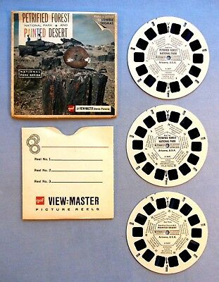 Viewmaster Reels- Petrified Forest Nat. Park- Set & Cover In Very Good Condition