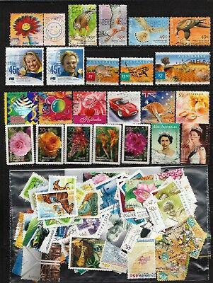 2001 To 2003 100 Australian Stamps  All Different  Used