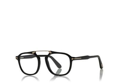 d3736f0993c78 AUTHENTIC TOM FORD Eyeglasses TF5495 001 Black Frames 48MM Rx-ABLE ...