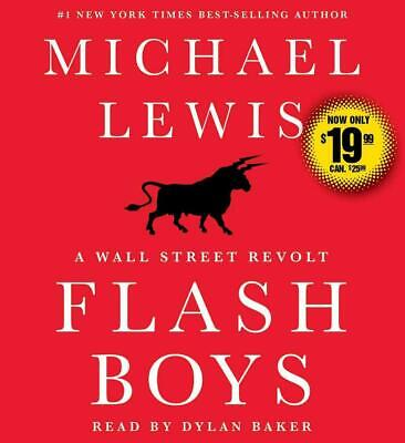 Flash Boys by Michael Lewis (English) Compact Disc Book Free Shipping!