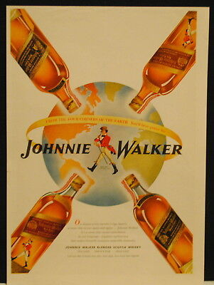1946 Johnnie Walker Red Label Black Label Scotch Whisky print ad